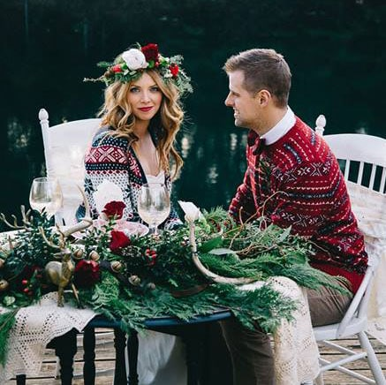 Boho Christmas Wedding