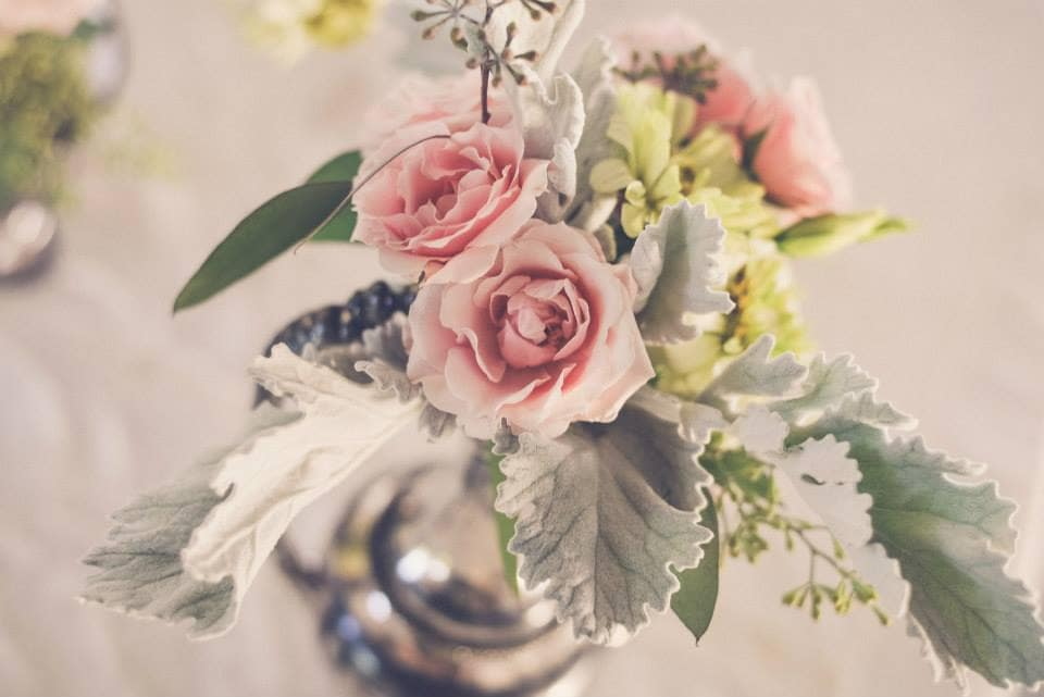 Roses as centerpiece