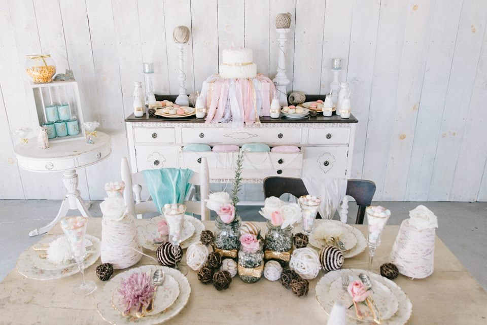 Cheery pastels - dresser at wedding