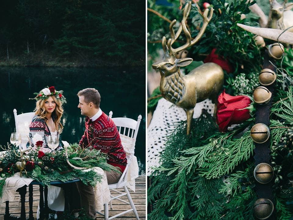 Elegant Christmas wedding