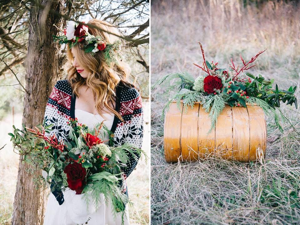 Boho Christmas Bride