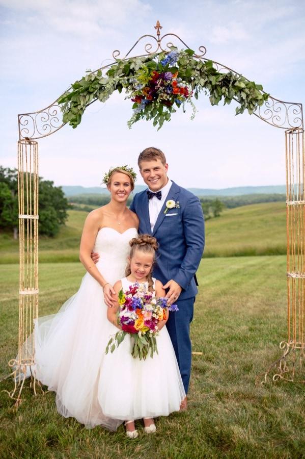 Junior bridesmaid daughter