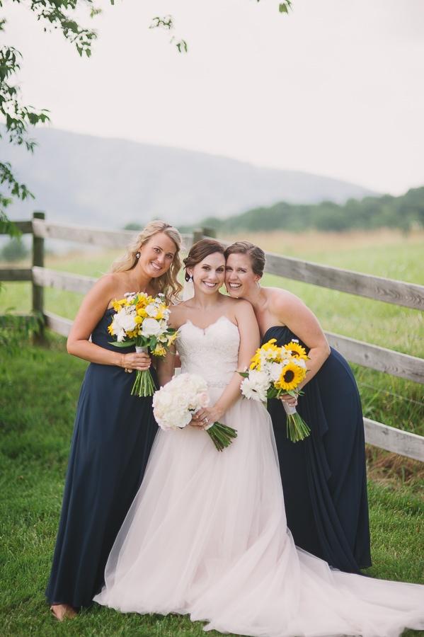 Krystina - bride and bridesmaids in navy
