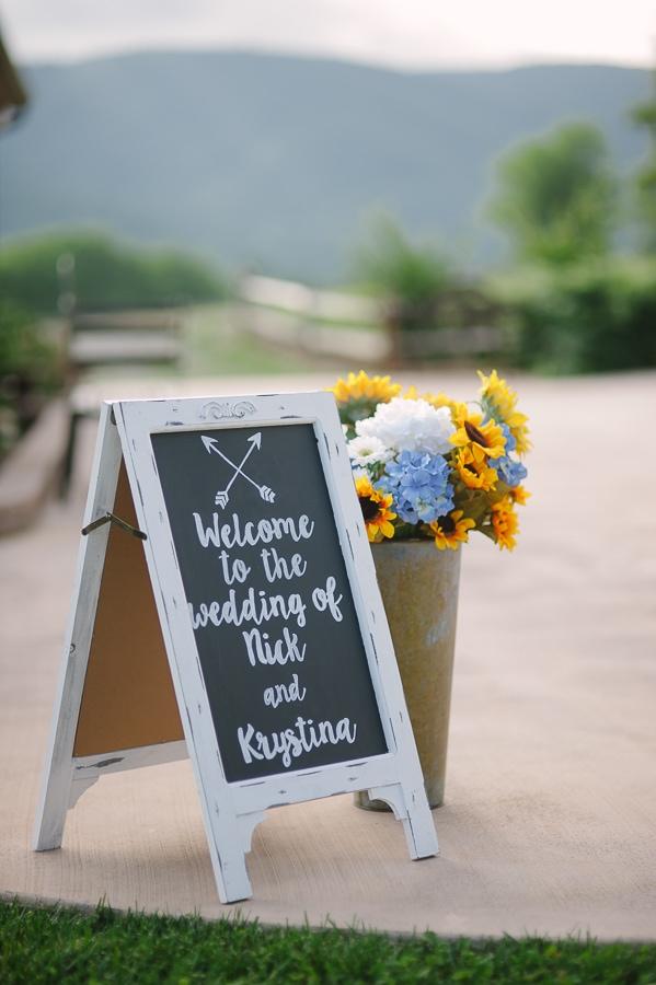Nick Krystina - Chalkboard ceremony entrance
