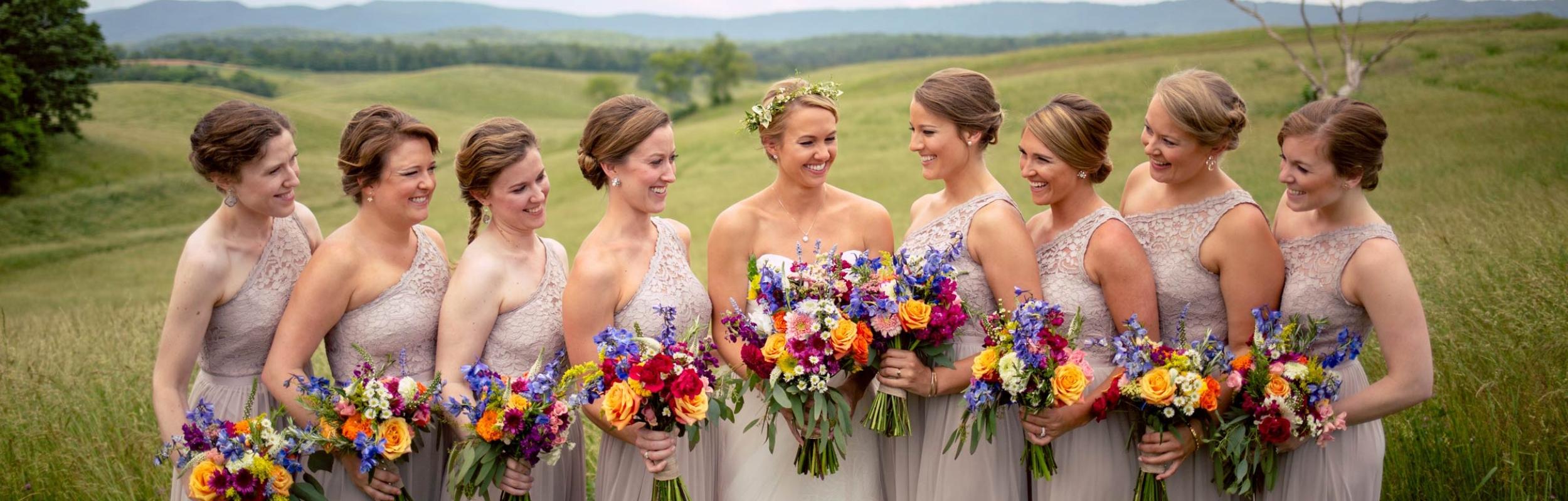 flower-vintage-bright-bridesmaids