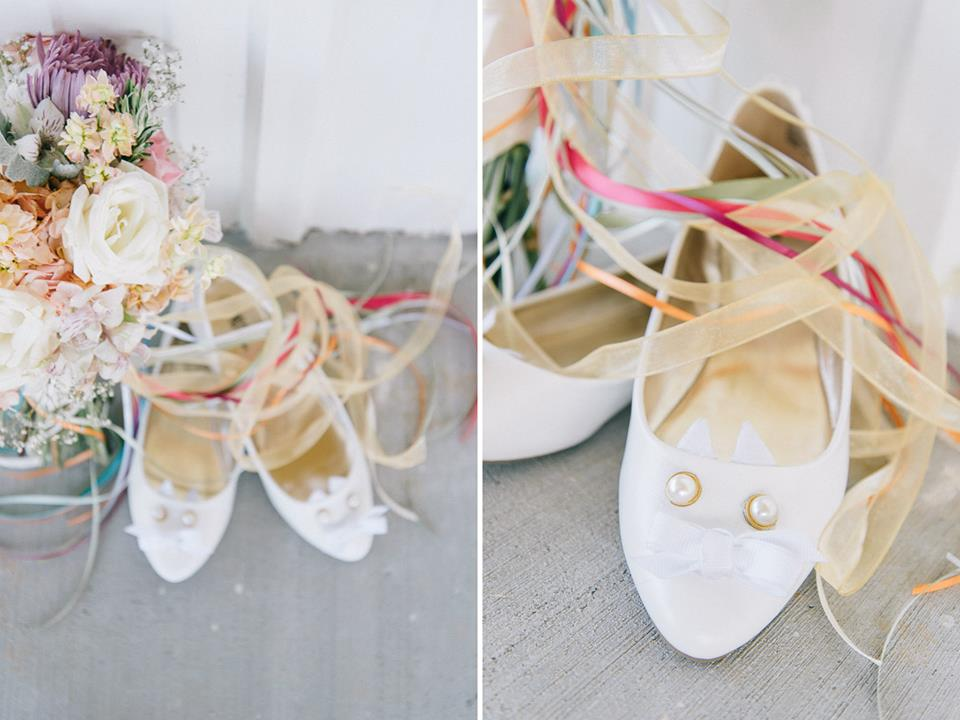 bridal kitten shoes