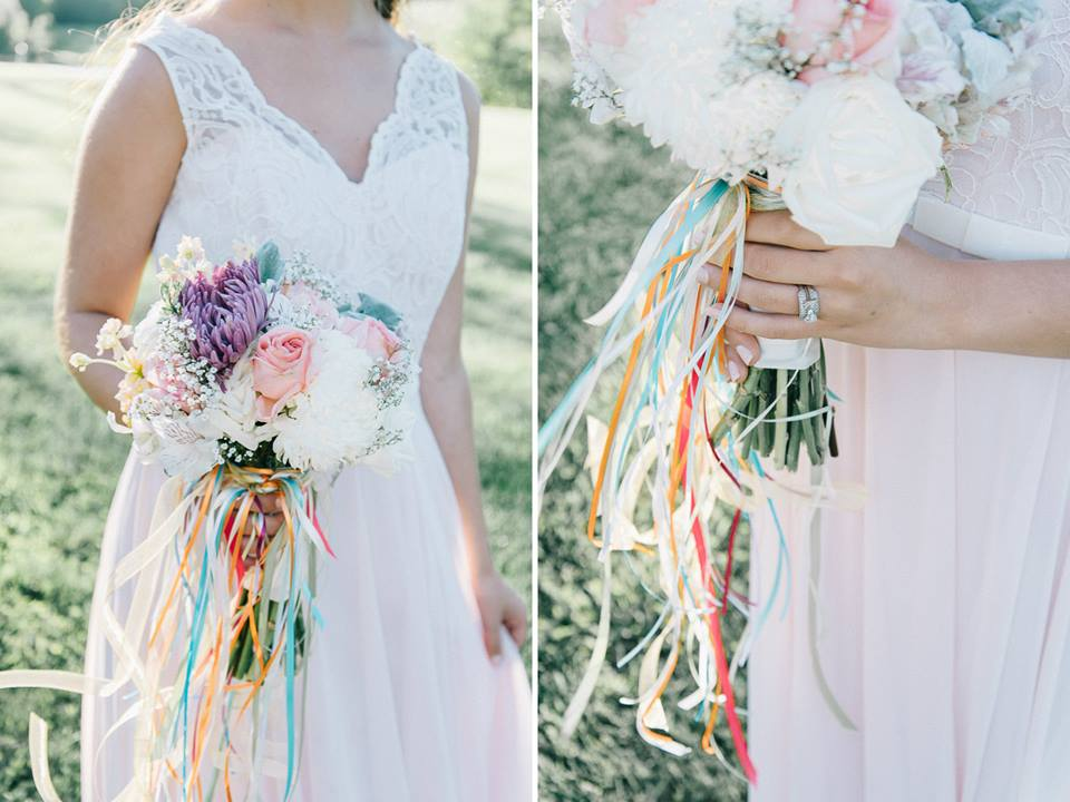 Candy colored bouquets