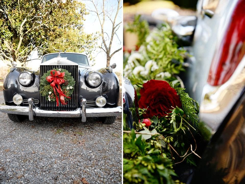 1920's Vintage Car Christmas wedding