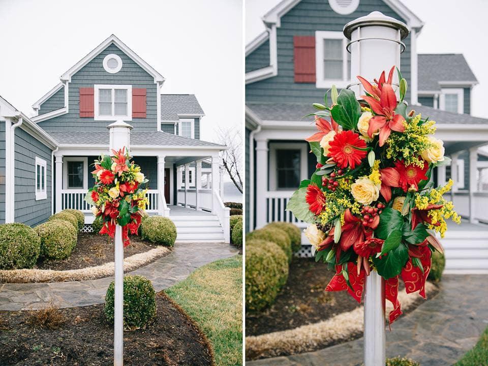 Holiday wedding house