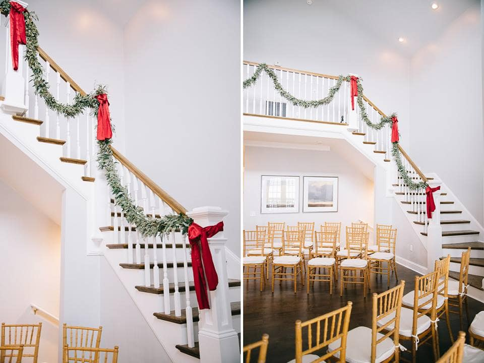 Holiday banister decor