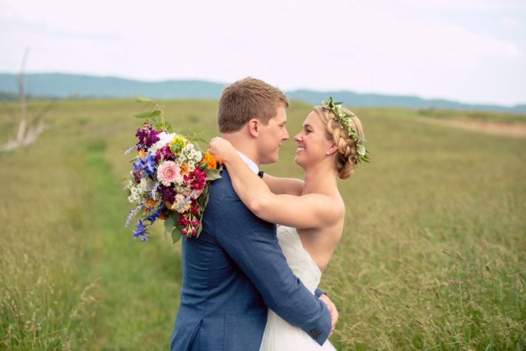 wedding with Wildflowers