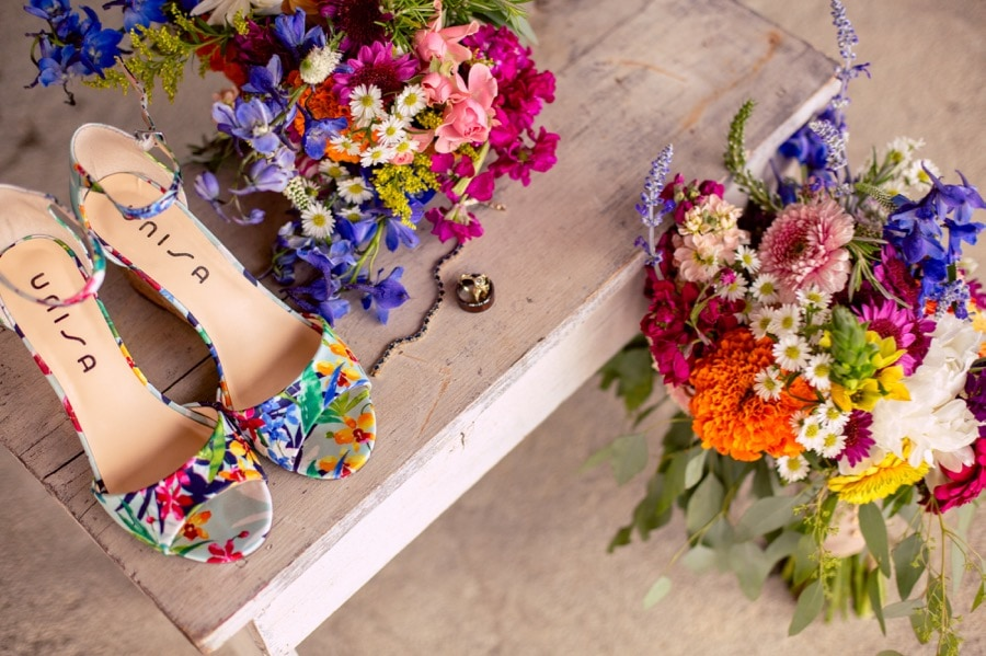 unisa colorful brides heels