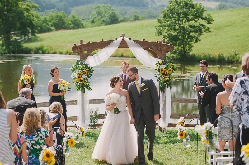 Krystina and Nick after the ceremony